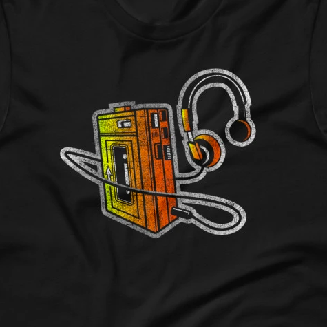 Vintage-Look Mixtape Portable Cassette Player Short-Sleeve Unisex T-Shirt