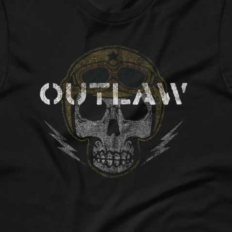 Skull Biker Outlaw Short-Sleeve Unisex T-Shirt