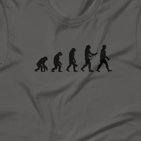 Evolution of Banjo Man Short-Sleeve Unisex T-Shirt