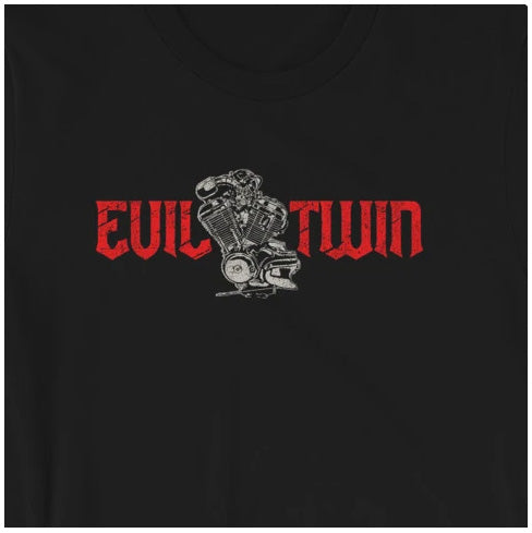 Evil Twin Motorcycle Engine Short-Sleeve Unisex T-Shirt