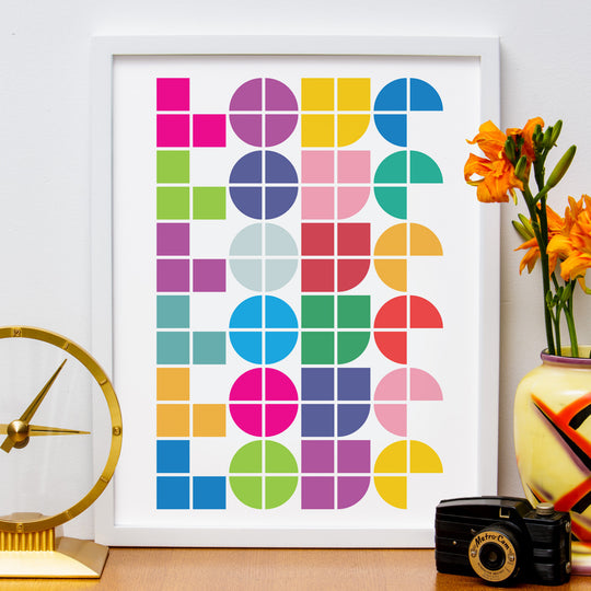 "12"" x 16"" Abstract Love Poster"