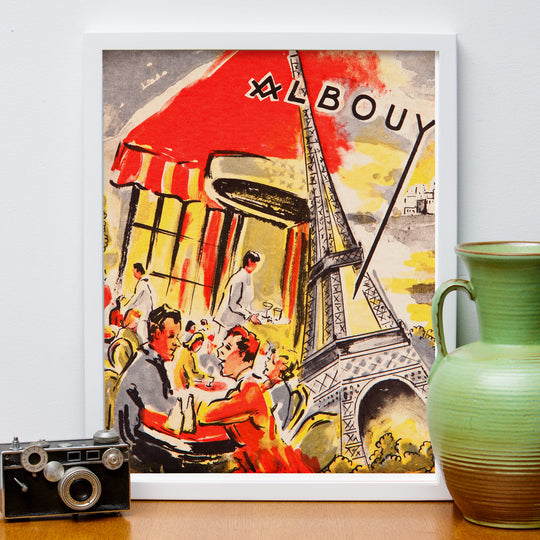 """Albouy"" Retro European Travel Style Poster"