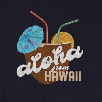 Aloha From Hawaii Retro Distressed Vacation Summer Short-Sleeve Unisex T-Shirt