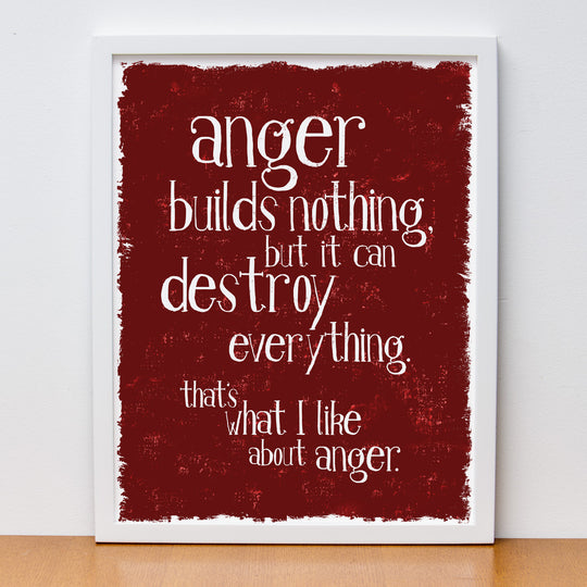 "12"" x 16"" ""That's What I Like About Anger"" Poster"