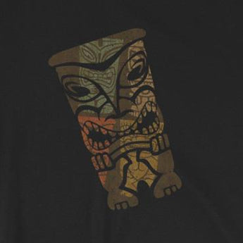Distressed Angry Tiki Polynesian Themed Short-Sleeve Unisex T-Shirt