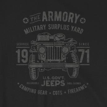 "Retro ""The Armory"" Army Surplus Jeep Short-Sleeve Unisex T-Shirt"