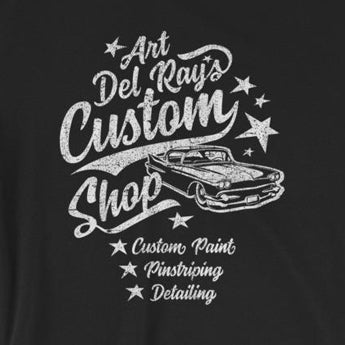 Del Ray's Custom Shop Hot Rod Garage Short-Sleeve Unisex T-Shirt