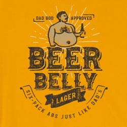 Beer Belly Lager Funny Craft Beer Short-Sleeve Unisex T-Shirt