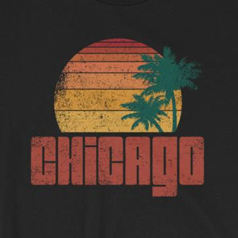 Funny Chicago Beach Surfer Short-Sleeve Unisex T-Shirt