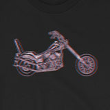 Classic '60's Style Chopper Motorcycle Unisex T-Shirt