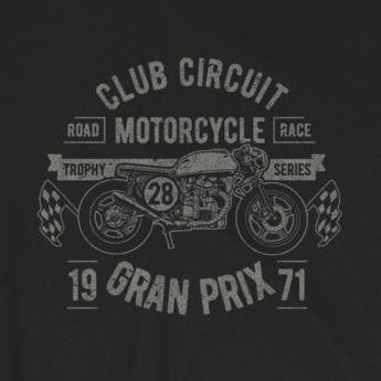 Club Circuit Vintage-Look Retro Motorcycle Race Short-Sleeve Unisex T-Shirt
