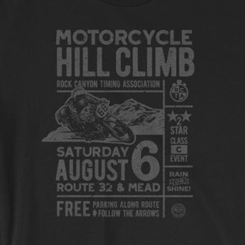 Vintage-Look Motorcycle Hill Climb Race Short-Sleeve Unisex T-Shirt