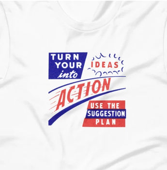 Retro Turn Your Ideas into Action Short-Sleeve Unisex T-Shirt