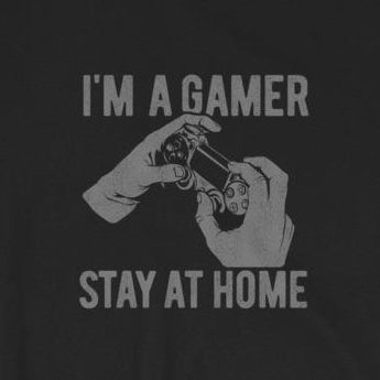 I'm a Gamer, Stay at Home Video Game Short-Sleeve Unisex T-Shirt
