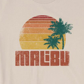 Distressed Vintage-Look Malibu Beach Vacation Short-Sleeve Unisex T-Shirt