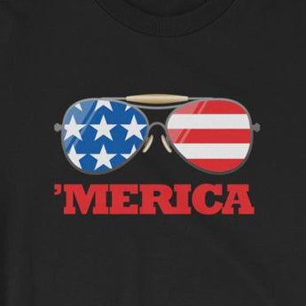 Sunglasses Merica Fourth of July Patriotic Unisex T-Shirt