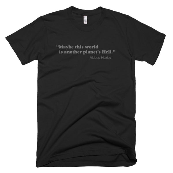 "Bleak ""Aldous Huxley"" Quote Unisex Tee in Gray"