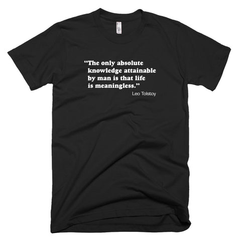 "Bleak ""Tolstoy"" Quote Unisex Tee"