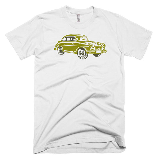 retro inspired, vintage look tee, little car, automobile t-shirt