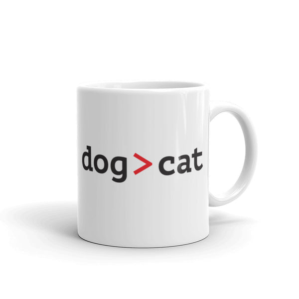 ArtBitz dog greater than cat mug, dog lover's coffee mug