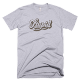 "Retro inspired ""Stupid"" t-shirt, distressed, vintage look tee, Unisex, typography"