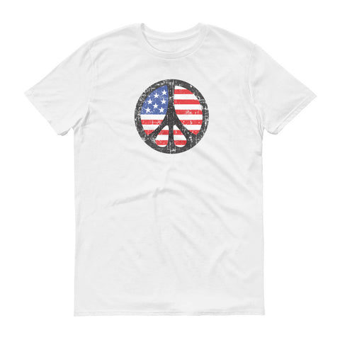 ArtBitz Peace Sign over American Flag Tee
