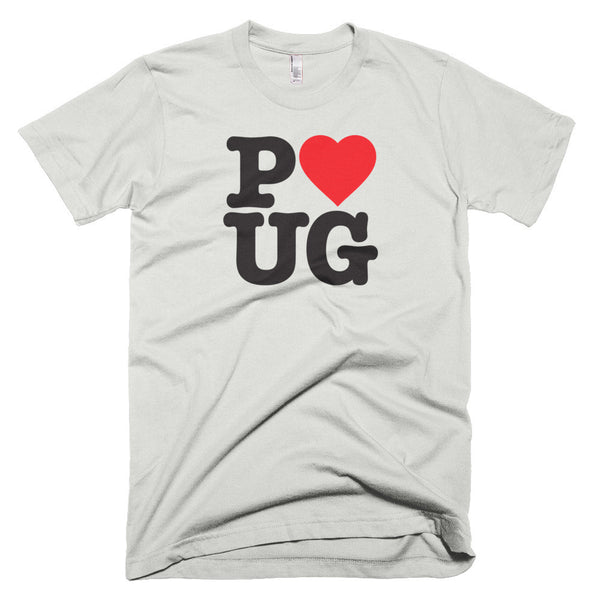 Unisex Love Pug Tee, for Pug Lovers