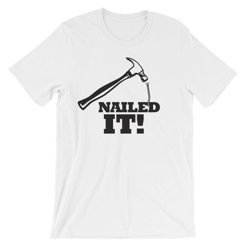 "ArtBitz Unisex ""Nailed It"" Hammer and Nail Design Tee"