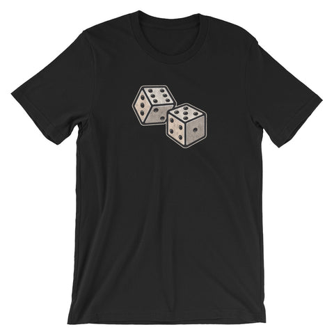 Retro Lucky Dice Gambling Game of Chance Short-Sleeve Unisex T-Shirt