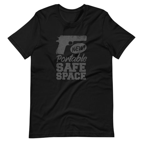 Portable Safe Space Gun Safety Short-Sleeve Unisex T-Shirt