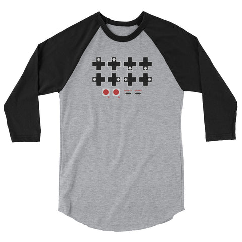Contra Cheat Code Password 3/4 sleeve raglan shirt