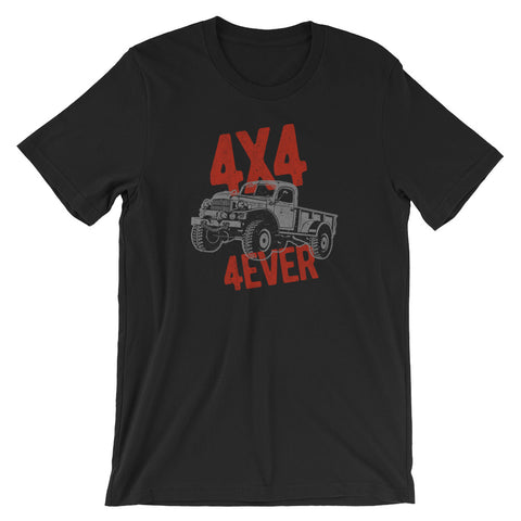 Vintage Look 4x4 4ever Off-Road Truck Lover's Short-Sleeve Unisex T-Shirt