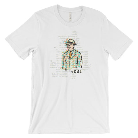 "ArtBitz Unisex ""Woot"" Man with Code T-Shirt"