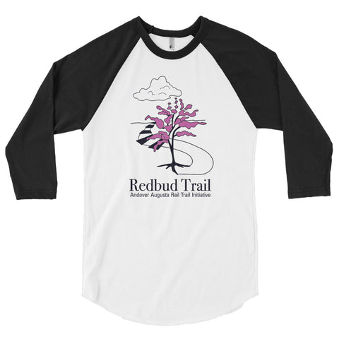 Kansas Trail Tees' Redbud Trail 3/4 Sleeve Raglan Shirt, Unfinished Bottom Edge