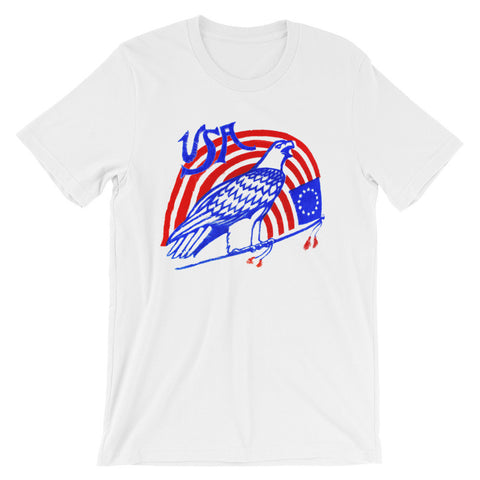 ArtBitz Unisex USA Eagle & Flag Fourth of July Tee, 4th of July