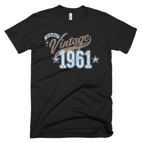 "Unisex Year of Birth, 1960, ""Vintage"" Typographic T-Shirt"