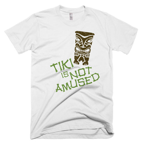 "Unisex ""Tiki is Not Amused"" Island Idol Themed T-Shirt"