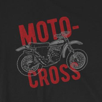 Vintage-Look Motocross Dirt Bike MotorcycleShort-Sleeve Unisex T-Shirt