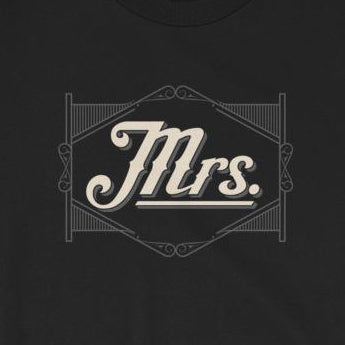 """Mrs."" T-Shirt, Wife, His & Hers, Mr. & Mrs., Short-Sleeve Unisex T-Shirt"
