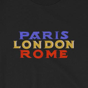 Paris, London, Rome European Travel Vacation Cities Short-Sleeve Unisex T-Shirt