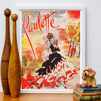 """Paulette"" Retro French Poster"