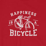 Happiness is a Bicycle Bike Lover's Short-Sleeve Unisex T-Shirt