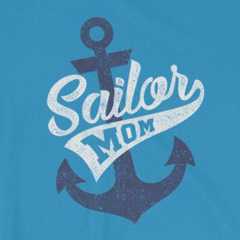 """Sailor Mom"" Navy Mom Unisex Retro T-Shirt"