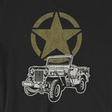 Vintage-Look Army Jeep with Military Star 4x4 Short-Sleeve Unisex T-Shirt