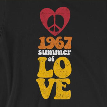 Unisex 1967 Summer of Love Hippie Tee