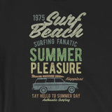 Retro Surf Beach Summer Pleasure Vintage-Look Short-Sleeve Unisex T-Shirt