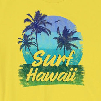 Vintage-Look Surf Hawaii Beach Summer Vacation Short-Sleeve Unisex T-Shirt
