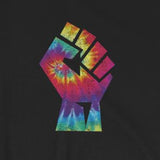Tie Dye Workers Protest Fist Short-Sleeve Unisex T-Shirt