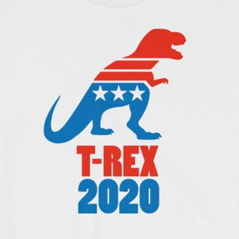 T-Rex 2020 Funny Political Election Short-Sleeve Unisex T-Shirt
