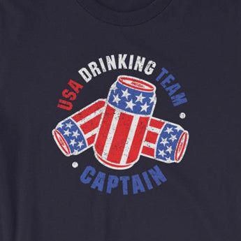 USA Drinking Team Beer Can Flag Unisex T-Shirt